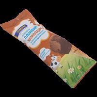 Мороженое ЛЕНТА Сахарная трубочка пломбир шоколадное