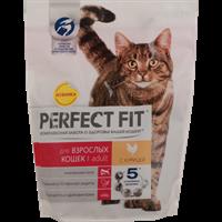 Корм для взрослых кошек PERFECT FIT с курицей