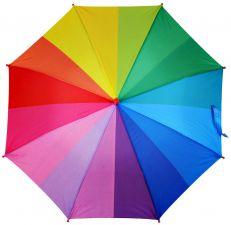 Зонт дет RAINDROPS трость, 52см 8спиц, фотопондж, радуга, 16цветов