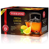 Чай черный TEEKANNE Fresh Lemon к/уп