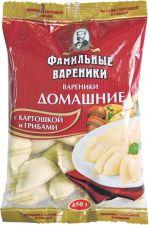 Вареники ФАМИЛЬНЫЕ ВАРЕНИКИ Домашние с картофелем и грибами 450г